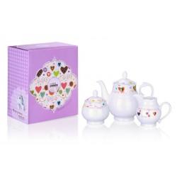Serwis kawowy z porcelany Serca MULTIPLE CHOICE BY TOPCHOICE