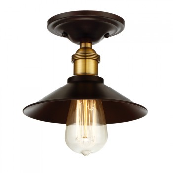 1-Light_Flush_Mount_Oil_Rubbed_Bronze_w_Brass_Accents_Finis_lampa_natynkowa