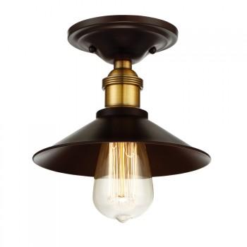 1-Light_Flush_Mount_Oil_Rubbed_Bronze_w_Brass_Accents_Finis_lampa_natynkowa
