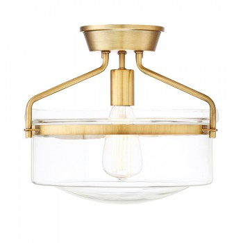 1-Light_Semi_Flush_Natural_Brass-Finish_lampa_natynkowa