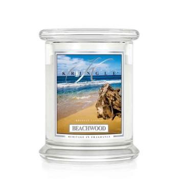 Kringle Candle – Beachwood – ŚWIECA ZAPACHOWA W SZKLE – Średnia
