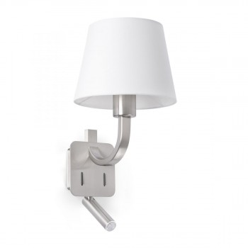 29341_ESSENTIAL_Matt_nickel_wall_lamp_with_LED_reader_faro_barcelona