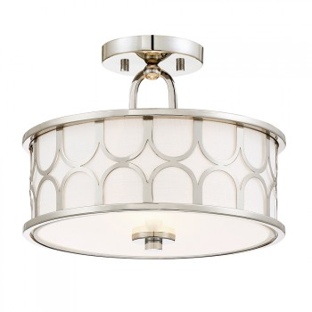 2_Light_Semi_Flush_Polished_Nickel_Finish_lampa_natynkowa