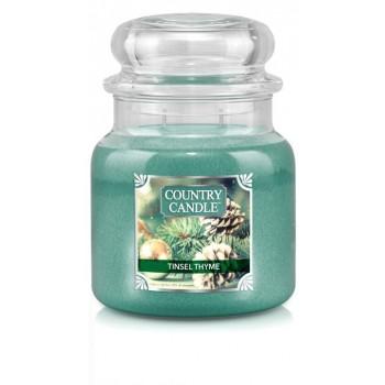 country_candle_Tinsel_Thyme_swieca_zapachowa_w_szkle_srednia