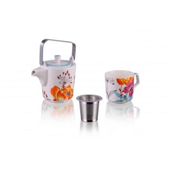 Czajnik_do_parzenia_herbaty+kubek_Białe_Kwiaty_MULTIPLE_CHOICE_BY_TOPCHOICE