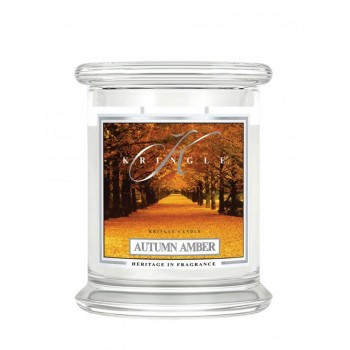kringle_candle_Autumn_Amber_swieca_zapachowa_w_szkle_srednia