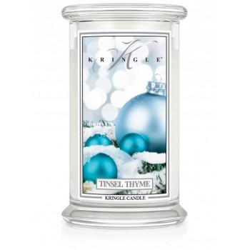 kringle_candle_Tinsel_Thyme_swieca_zapachowa_w_szkle_duza