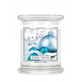 kringle_candle_Tinsel_Thyme_swieca_zapachowa_w_szkle_srednia