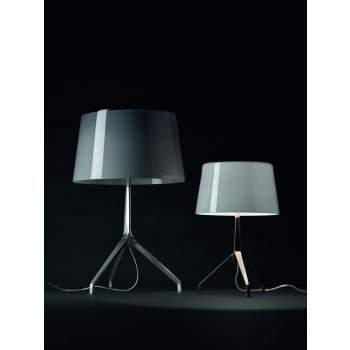 LUMIERE XXL and XXS_table_grigio_foscarini