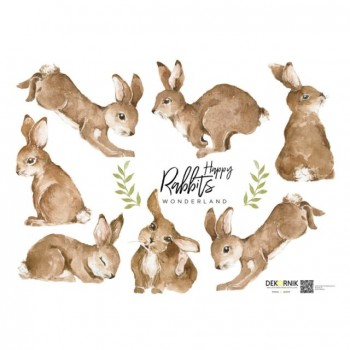 nakejka_scienna_zestaw_happy_rabbits_dekornik