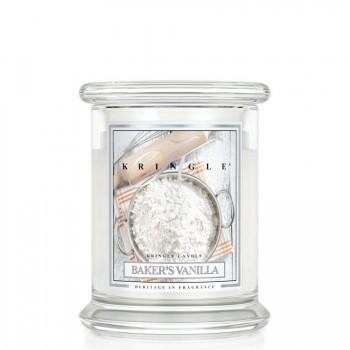 Kringle Candle – Baker's Vanilla– ŚWIECA ZAPACHOWA W SZKLE – Średnia