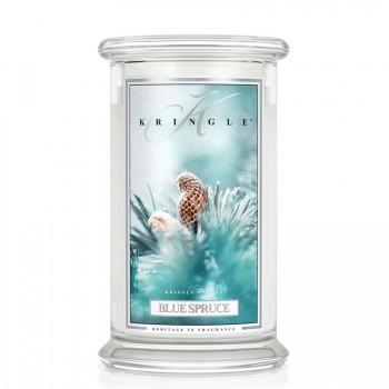 Kringle Candle – Blue Spruce   – ŚWIECA ZAPACHOWA W SZKLE – DUŻA