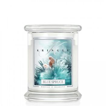 Kringle Candle – Blue Spruce   – ŚWIECA ZAPACHOWA W SZKLE – Średnia