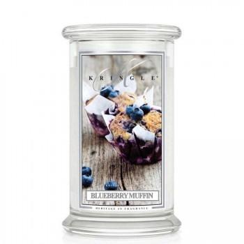 Kringle Candle – Blueberry Muffin  – ŚWIECA ZAPACHOWA W SZKLE – DUŻA