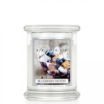 Kringle Candle – Blueberry Muffin  – ŚWIECA ZAPACHOWA W SZKLE – Średni