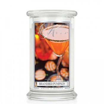 Kringle Candle – Brandied Pumpkin– ŚWIECA ZAPACHOWA W SZKLE – DUŻA