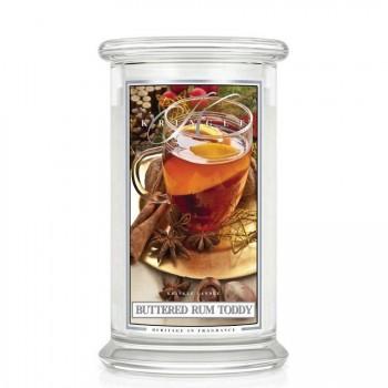 Kringle Candle – Buttered Rum Toddy– ŚWIECA ZAPACHOWA W SZKLE – DUŻA
