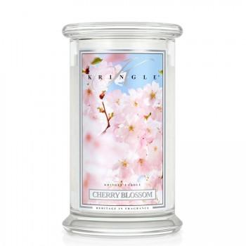 Kringle Candle – Cherry Blossom – ŚWIECA ZAPACHOWA W SZKLE – DUŻA
