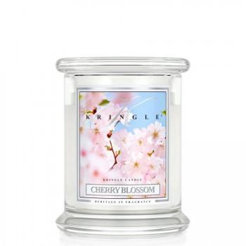 Kringle Candle – Cherry Blossom – ŚWIECA ZAPACHOWA W SZKLE – Średnia