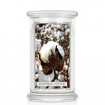 Kringle Candle – Egyptian Cotton– ŚWIECA ZAPACHOWA W SZKLE – DUŻA