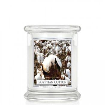Kringle Candle – Egyptian Cotton– ŚWIECA ZAPACHOWA W SZKLE – Średnia