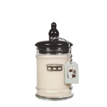 BRIDGEWATER CANDLE – WHITE COTTON – ŚWIECA W SZKLE – MAŁA