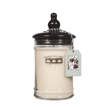 BRIDGEWATER CANDLE – WHITE COTTON – ŚWIECA W SZKLE – DUŻA