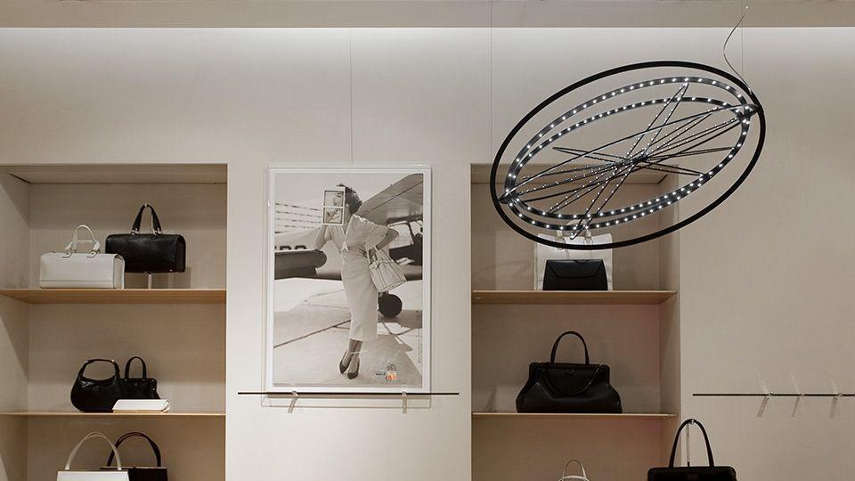 Artemide Copernico Valextra Showroom Milan