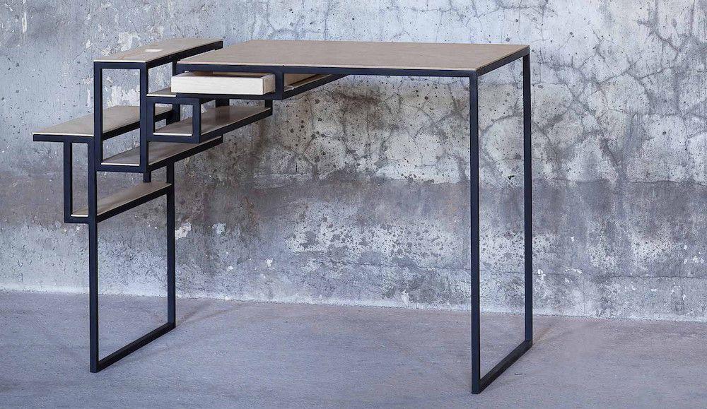 biurko z drewnianym blatem Serax Jointed