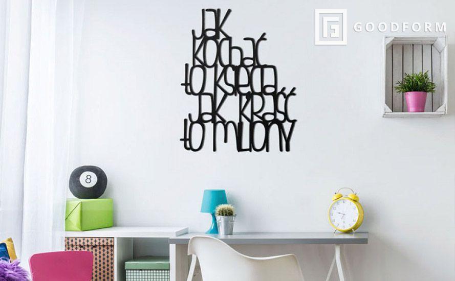 Napis na ścianę do dekoracji